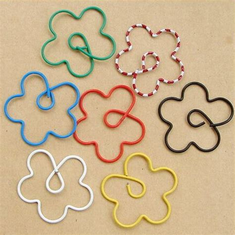 How To Make A Shaped Paper Clip - new design 100pcs flower shape paper metal