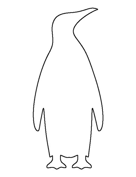 Emperor Penguin Pattern Use The Printable Outline For Crafts Creating Stencils Scrapbooking Penguin Template Stencil