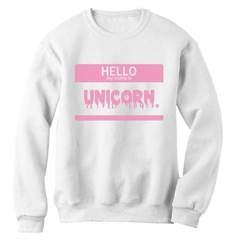 Hello Jumper hello unicorn sweatshirt top be yourself dope fashion jumper