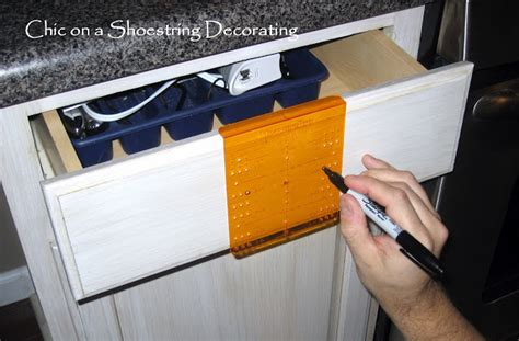 how to install hardware on kitchen cabinets chic on a shoestring decorating how to change your