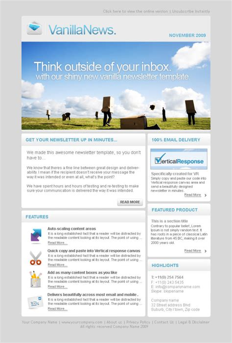 Electronic Newsletter Templates electronic newsletter templates free 28 images html