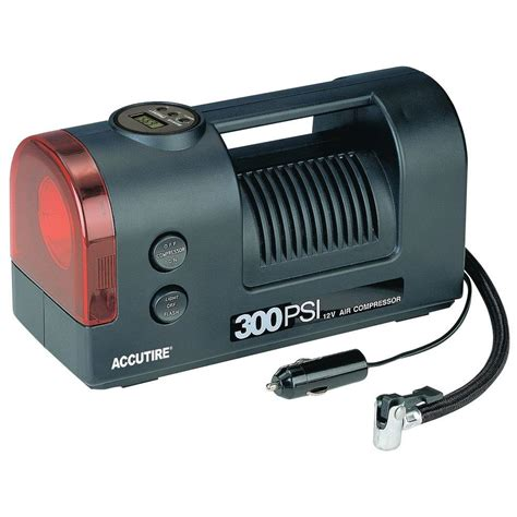accutire digital 300 psi 12 volt air compressor with light ms5550 the home depot