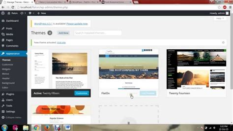 tutorial wordpress theme flaton wordpress theme tutorial youtube