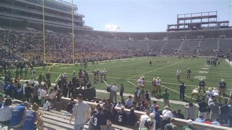 what is section 35 notre dame stadium section 35 rateyourseats com