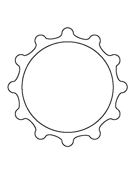 free bottle cap template bottle cap pattern use the printable outline for crafts