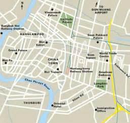 Map bangkok map of bangkok thailand