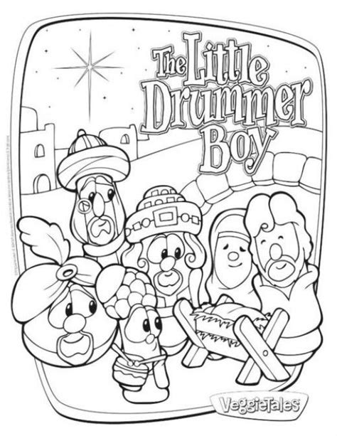 coloring pages drummer boy free veggie tales coloring pages to print coloringstar