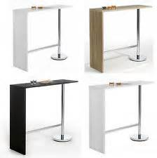 Breakfast bar table white kitchen furniture modern coffee dining home