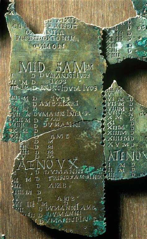 Calendrier De Coligny Le Mus 233 E Gallo De Lyon Lieux Sacr 233 S