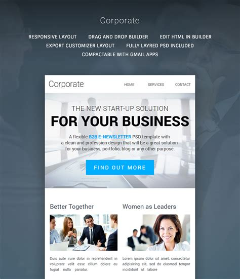 corporate email template corporate multipurpose b2b newsletter buy premium