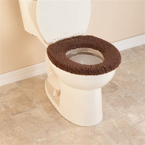 sherpa toilet seat cover cushioned toilet seat easy