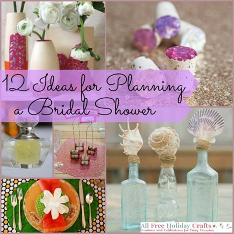 bridal shower crafts ideas 12 ideas for planning a bridal shower