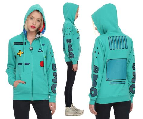 Adventure Time Design Hoodie adventure time bmo zip up hoodie from topic geekologie