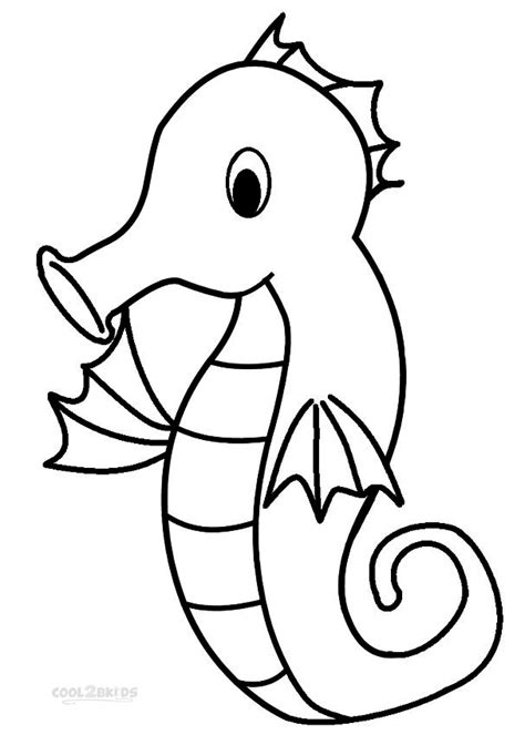 seahorse coloring page printable seahorse coloring pages for cool2bkids