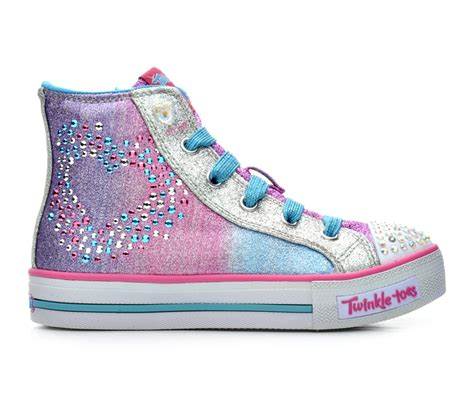 shoe carnival light up shoes skechers glitzy hearts 10 5 4 light up shoes