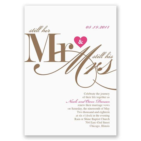 Wedding Vows Renewal by Still Together Vow Renewal Invitation Invitations By
