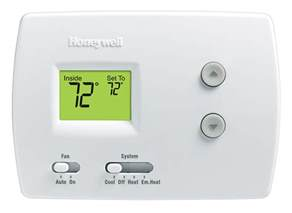 non programmable heat pump thermostat honeywell