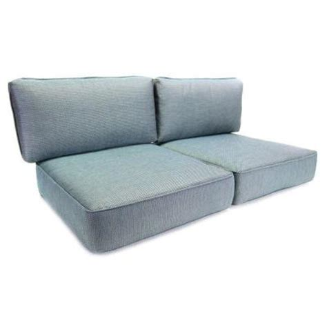 Outdoor Loveseat Cushion Replacement hton bay fenton replacement outdoor loveseat cushion fens4cu set the home depot