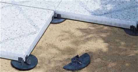 terrasse untergrund platten stelzlager plattenlager terrassenplatten