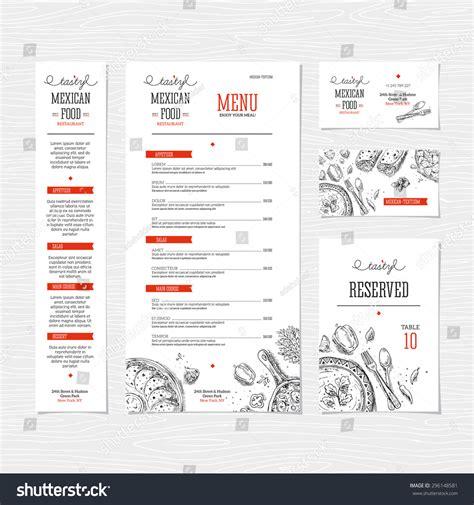 illustrator menu template restaurant menu template cafe identity vector stock vector