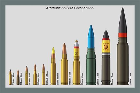 bullet size chart wow ammunition reloading bullets and charts