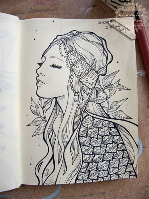 sketchbook inktober inktober day two by nati on deviantart