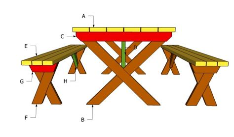 bl working plans   wooden picnic bench