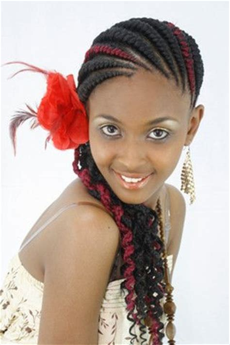 types weaves in kenya abuja lines her hair red streaks and hairstyles