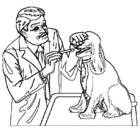 coloring pages for veterinarian veterinarian coloring page az coloring pages