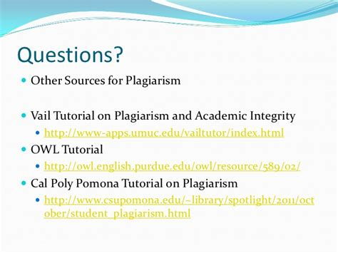 online tutorial on academic integrity plagiarism tutorial