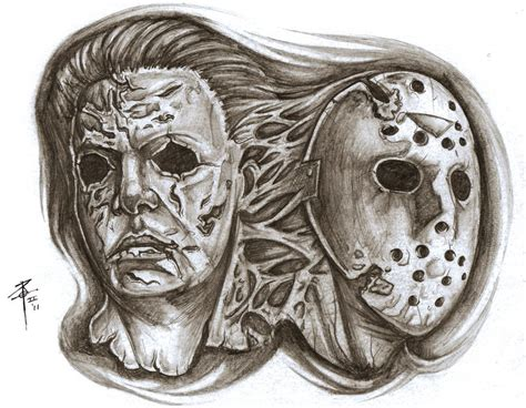 michael myers jason voorhees by nehemya on deviantart