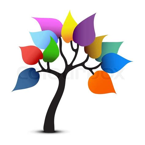 color designer tree color design fantasy graphic vector stock vector