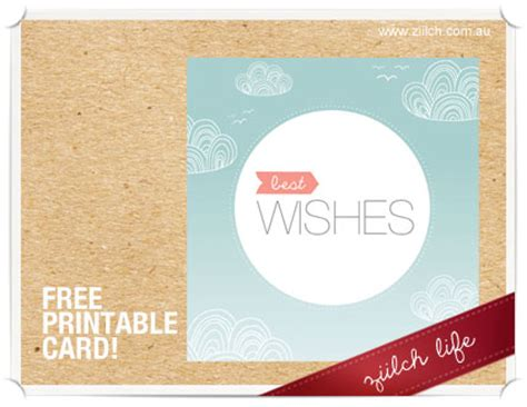 Best Wishes Printable Cards Free free printable best wishes card
