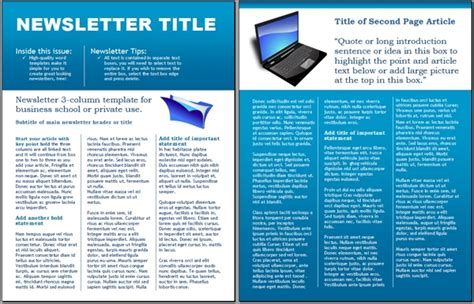 business newsletter templates free sanjonmotel
