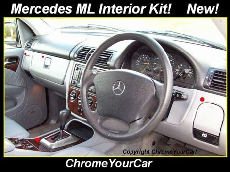 Mercedes Interior Trim Parts by Mercedes Ml 98 05 5 Part Interior Trim Kit Aluminium