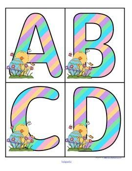 Printable Easter Alphabet Letters | easter themed set of large alphabet letters free from