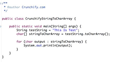 pattern java char java simple way to convert string to char array crunchify