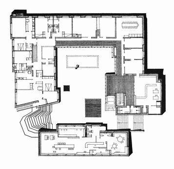 alvar aalto floor l floor plan s 228 yn 228 tsalo town hall finland 1952 alvar