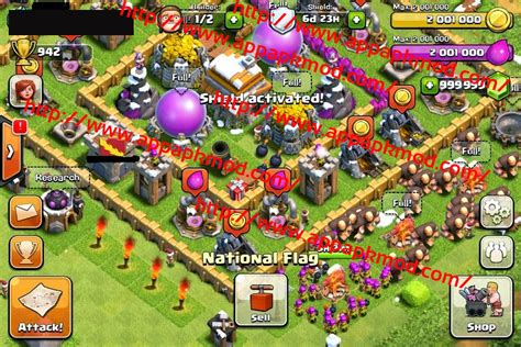 download mod game clash of clans android clash of clans mod v7 200 13 999 999 gems only no root