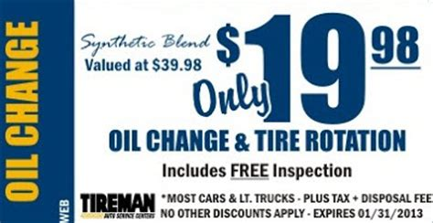 oil change coupons walmart oil change prices  sports coupon