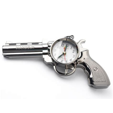 novelty pistol gun shape alarm clock desk table home office decor gifts lw ebay