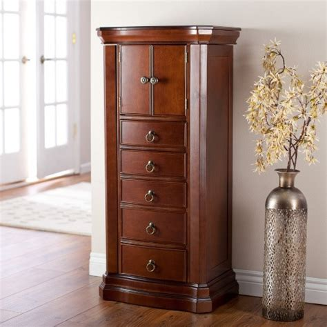 large jewelry armoire necklace storage organizer chest