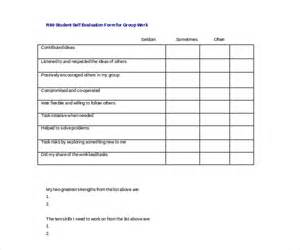 Student Self Evaluation Templates by Sle Self Evaluation Forms 11 Free Documents In Word Pdf