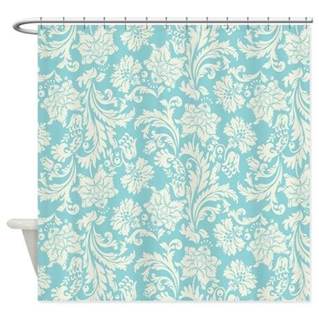 turquoise and cream curtains turquoise and cream damask shower curtain by artonwear
