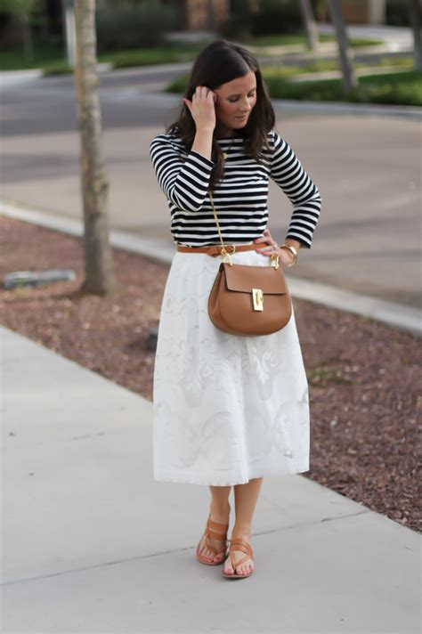 42403 Black Leather Flip Skirt green floral blouse a lace midi skirt the northeast bloglovin