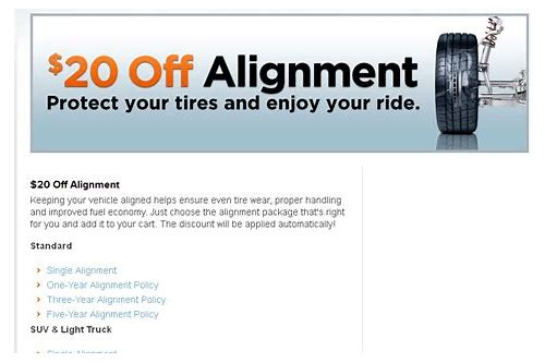 discount tire coupons wheel alignment
