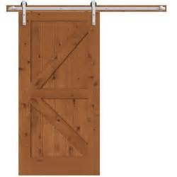 Interior Barn Door Hardware Home Depot Steves Sons 42 In X 84 In Rustic 2 Panel Stained