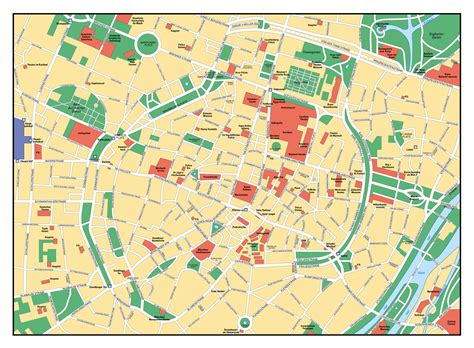 germany map detailed large detailed map of central part of munich city