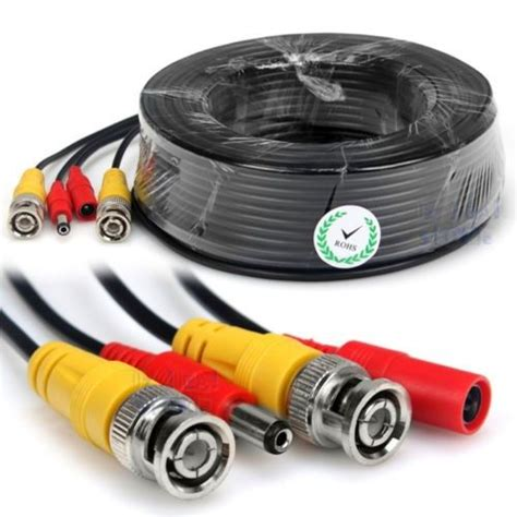 geeek cctv cable combi cable coax bnc rg59 power 50m geeektech