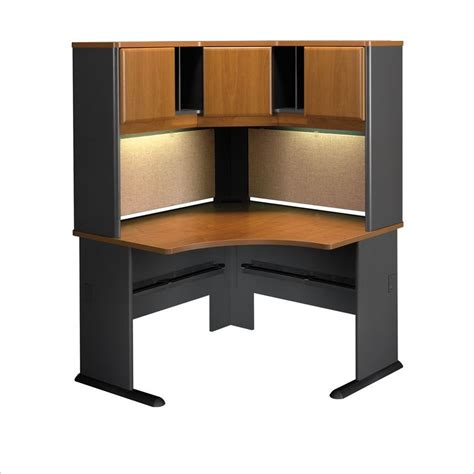 Bush Desk With Hutch Bush Bbf Series A 48 Quot Corner Computer Desk With Hutch In Cherry Wc57466 Pkg4